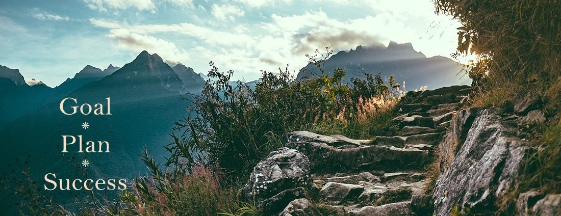 mountain path with sunshine